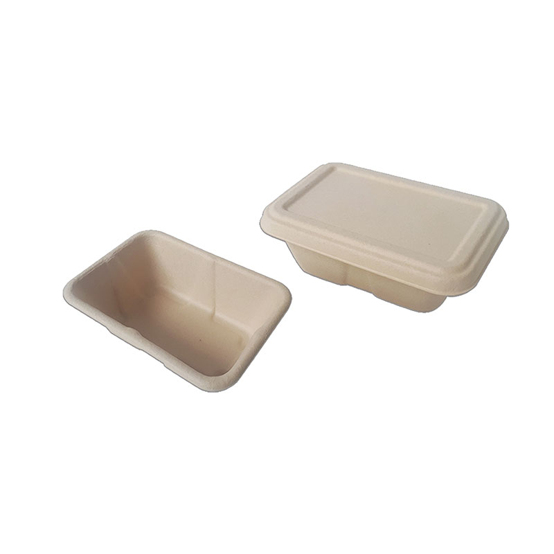 rectangular unbleached pulp container